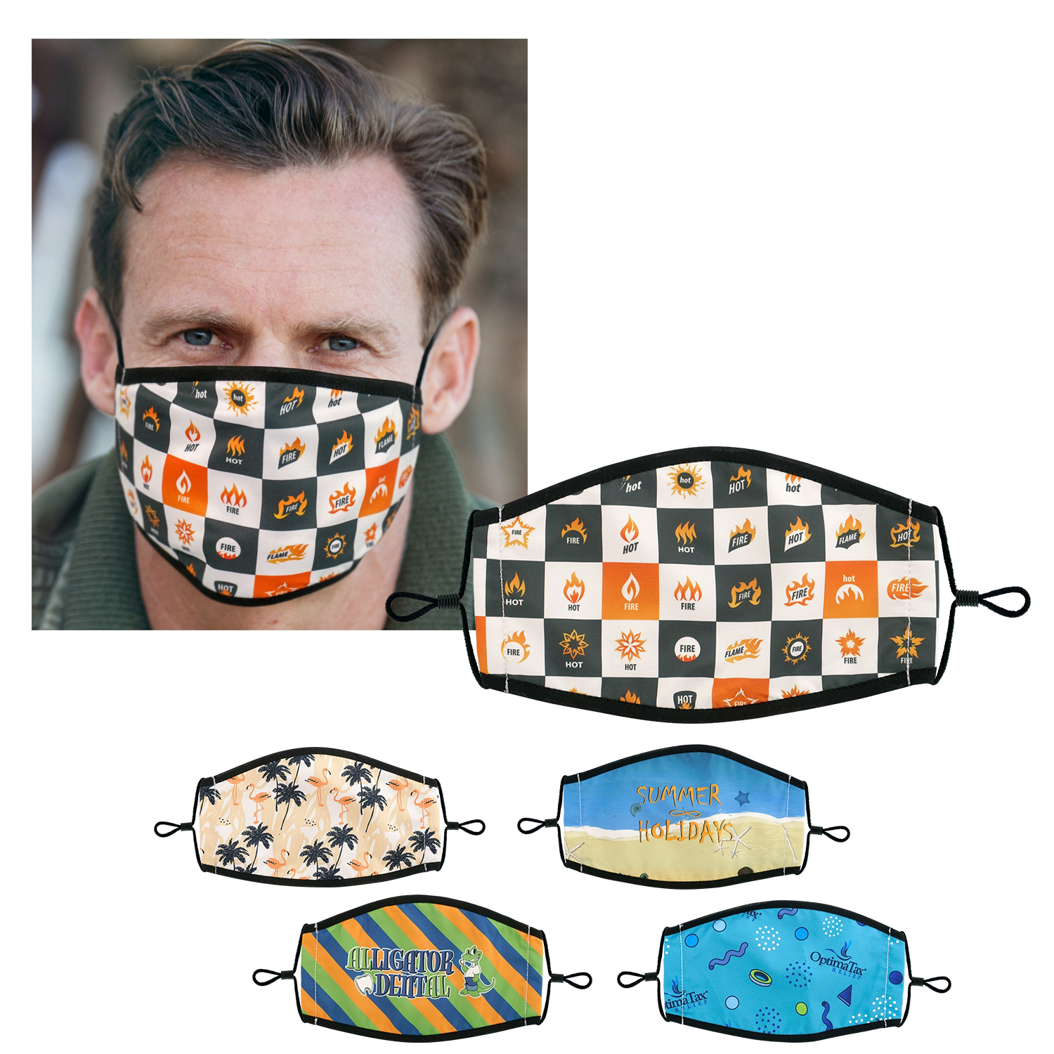 Lined Custom Fabric Face Mask