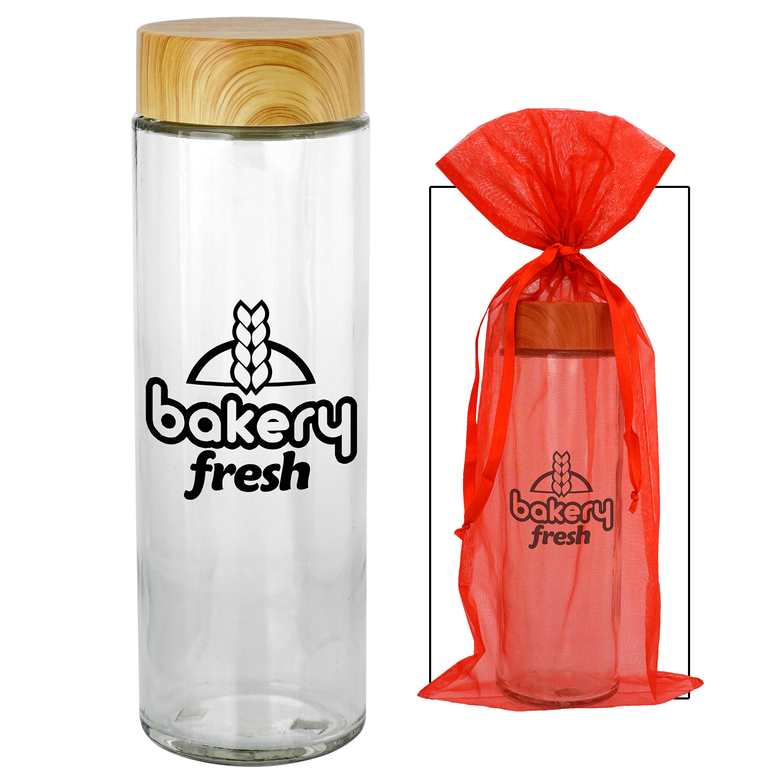 Bamboo Holiday Glass Bottle