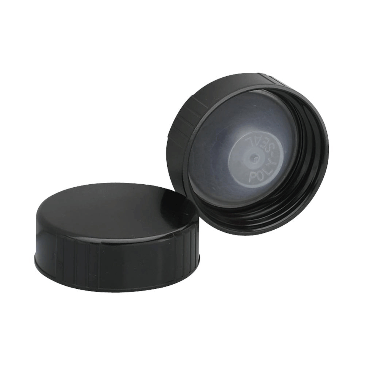 Black Plastic Polyseal Lid for Boston Rounds