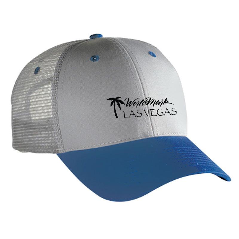 Twill Low Profile  Mesh Back Custom Caps
